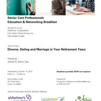 Divorce Dating and Marriage in Your Retirement Years Seminar October 14, 2015