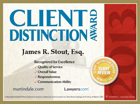 2013 Client Distinction Award